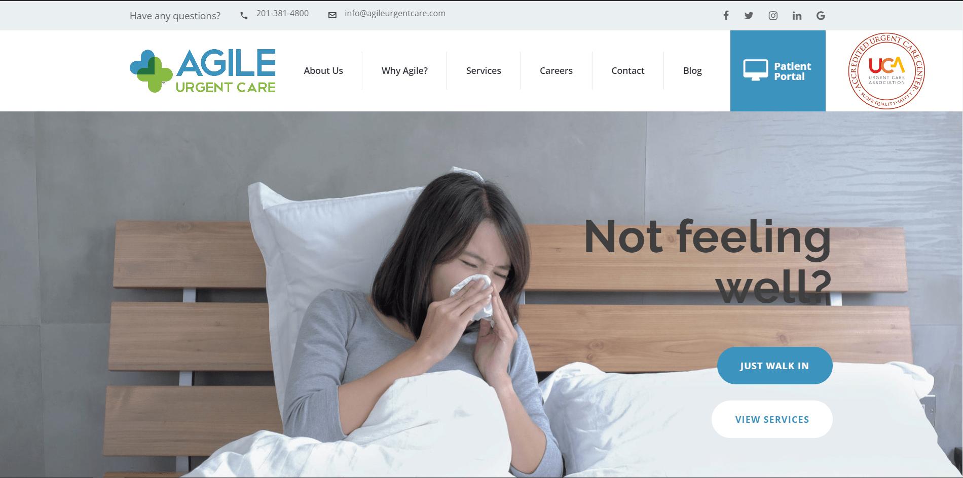 "<a href=""https://www.agileurgentcare.com/"">agileurgentcare.com/</a>"