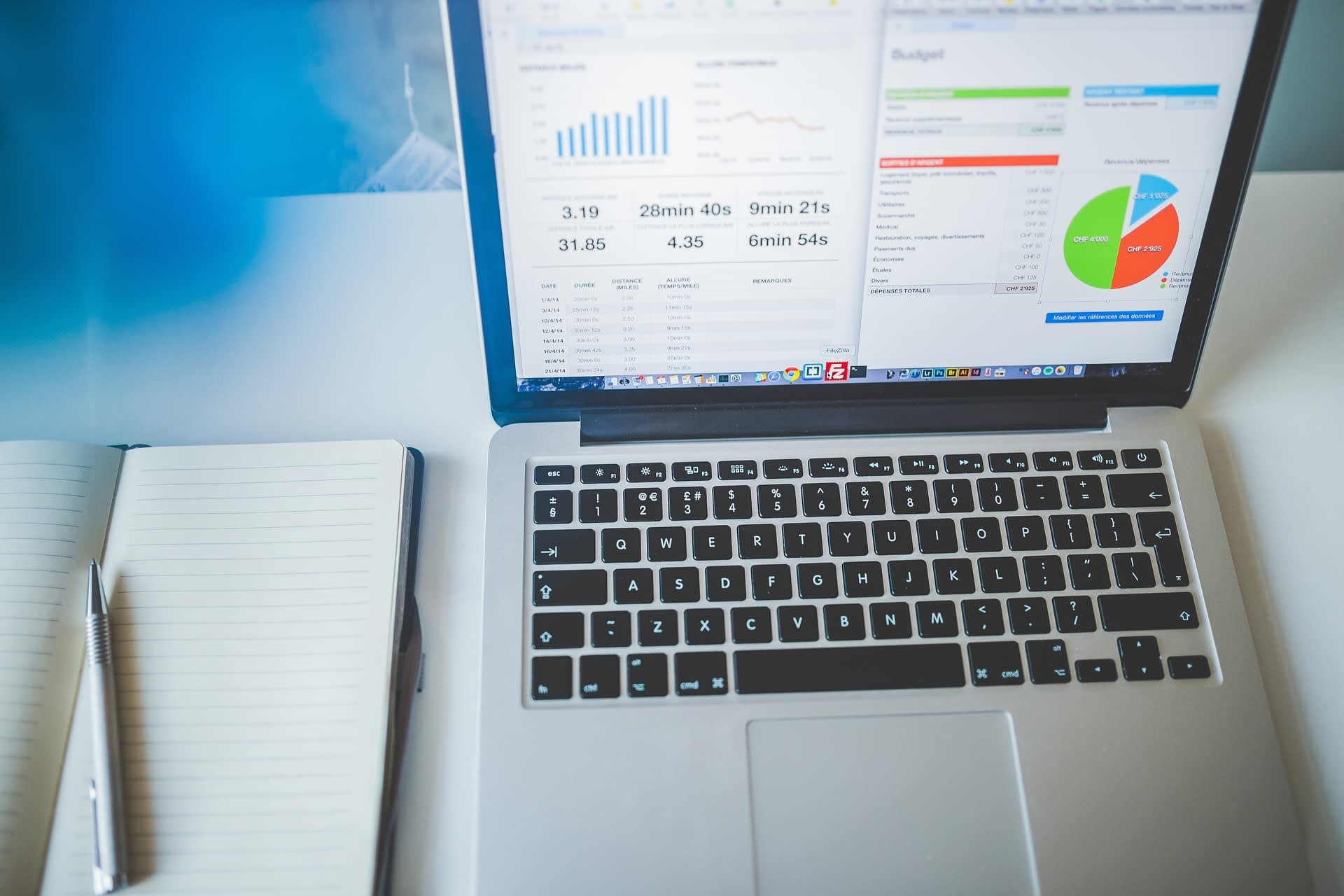 web analytics data