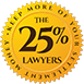 The 25% Lawyers Logo