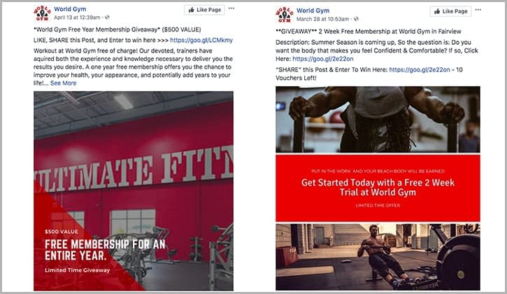 Social Media Marketing for World Gym